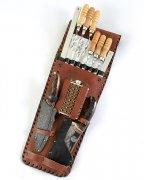 Кизлярский шашлычный набор в кожаном чехле №4
