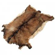 Натуральная козья шкура (цвет - рыжий, короткий ворс, ручная выделка) арт.5030