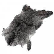 Натуральная козья шкура (цвет - серый, длинный ворс, ручная выделка) арт.5031