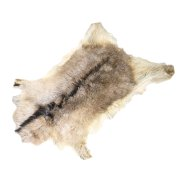 Натуральная козья шкура (цвет - бежевый, короткий ворс, ручная выделка) арт.5282