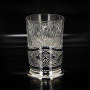 Серебряный подстаканник Кубачи (стакан и коробка - в подарок) арт.2541