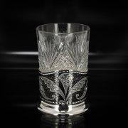 Серебряный подстаканник Кубачи (стакан и коробка - в подарок) арт.2544