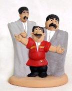 """Подарочная статуэтка ручной работы """"Три горца"""" обожженная глина"""