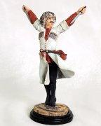"""Подарочная статуэтка ручной работы """"Танцор с кинжалами"""" (обожженная глина) арт.388"""