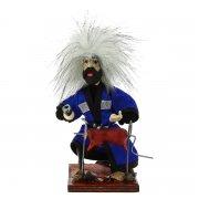 """Сувенирная кукла-композиция на деревянной подставке """"Джигит на отдыхе"""" арт.6653"""