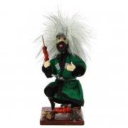 """Сувенирная кукла-композиция на деревянной подставке """"Джигит с шашлыком"""" арт.6654"""