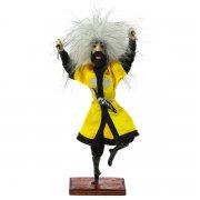 """Сувенирная кукла-композиция на деревянной подставке """"Джигит с кинжалами"""" арт.6655"""