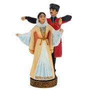 """Подарочная статуэтка ручной работы """"Парный танец"""" (обожженная глина) арт.6679"""