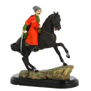 """Подарочная статуэтка ручной работы """"Казак на коне"""" (обожженная глина) арт.6698"""