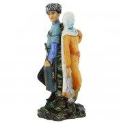 """Подарочная статуэтка ручной работы """"Встреча"""" (обожженная глина) арт.6700"""