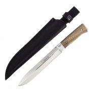 """Кизлярский нож разделочный """"Егерский"""" (сталь - AUS-8, рукоять - дерево, стальные притины) арт.4080"""