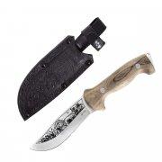 "Кизлярский нож туристический ""Дрофа"" (сталь - AUS-8, рукоять - дерево) арт.4096"