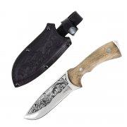 """Кизлярский нож туристический """"Глухарь"""" (сталь - AUS-8, рукоять - дерево) арт.4103"""