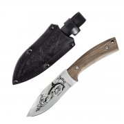 """Кизлярский нож туристический """"Акула-2"""" (сталь - AUS-8, рукоять - дерево) арт.4105"""