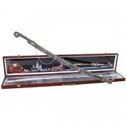 Кубачинский подарочный набор в футляре (шашка с серебряными вставками) арт.3547