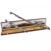 Кубачинский подарочный набор в футляре (шашка и кинжал с серебряными вставками) арт.3461