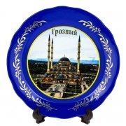 """сувенирная тарелка """"Грозный"""" большая №2"""