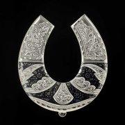 Кубачинская серебряная подкова ручной работы большая арт.1980