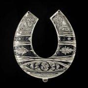 Кубачинская серебряная подкова ручной работы большая арт.1981