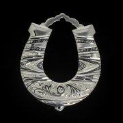 Кубачинская серебряная подкова ручной работы малая арт.2385
