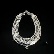 Кубачинская серебряная подкова ручной работы малая арт.2526
