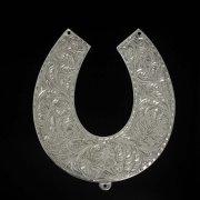 Кубачинская серебряная подкова ручной работы большая арт.2652