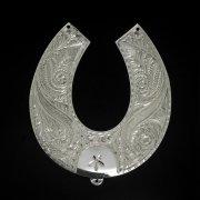 Кубачинская серебряная подкова ручной работы большая арт.2654