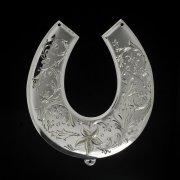 Кубачинская серебряная подкова ручной работы большая арт.2659