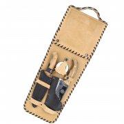 Кизлярский шашлычный набор в кожаном чехле №10