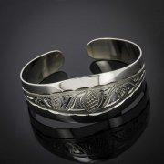 Серебряный кубачинский браслет с гравировкой арт.2931