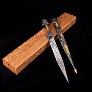 Кубачинский подарочный набор в футляре (кинжал с серебряными вставками) арт.2943