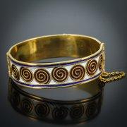 Серебряный кубачинский браслет с эмалью №3