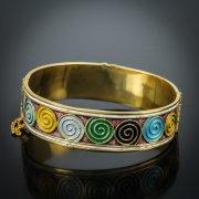 Серебряный кубачинский браслет с эмалью №5
