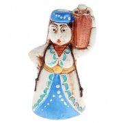 """Керамический сувенир-колокольчик """"Горянка с кувшином"""" (ручная работа)"""