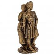 """Подарочная статуэтка ручной работы """"Встреча"""" (обожженная глина) арт.3707"""