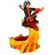 """Подарочная статуэтка-пепельница ручной работы """"Пламя"""" (обожженная глина) арт.3715"""