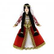 Керамическая кукла в абхазском национальном костюме (малая)