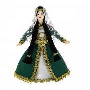 Керамическая кукла в ингушском национальном костюме (малая)№2