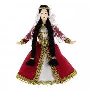 Керамическая кукла в азербаджанском национальном костюме (малая)