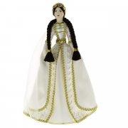 Керамическая кукла в чеченском национальном костюме (большая)