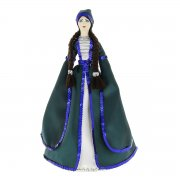 Керамическая кукла в адыгейском национальном костюме (большая)