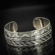 Серебряный кубачинский браслет комбинированный №4
