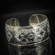 Серебряный кубачинский браслет широкий арт.522