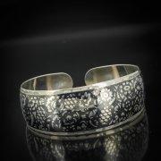 Серебряный кубачинский браслет с чернением арт.541