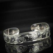Серебряный кубачинский браслет с чернением арт.550