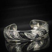 Серебряный кубачинский браслет с чернением арт.552