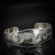 Серебряный кубачинский браслет с чернением арт.560