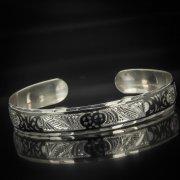 Серебряный кубачинский браслет с чернением арт.587