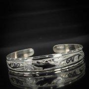 Серебряный кубачинский браслет с чернением арт.591