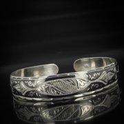 Серебряный кубачинский браслет с чернением арт.593